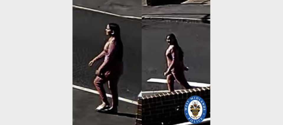 CCTV showing a woman police would like to speak to. (West Midlands Police)