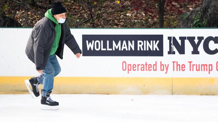 The Trump Organization has contracts to run two skating rinks in New York.