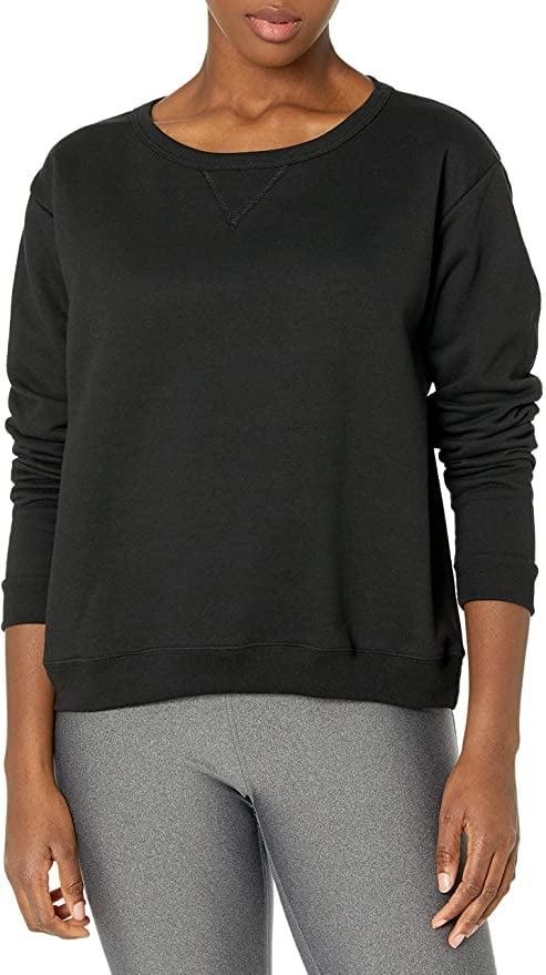 <p>This ultracomfortable <span>Hanes Women's V-Notch Pullover Fleece Sweatshirt</span> ($11) can take your from a Zoom meeting to the grocery store.</p>