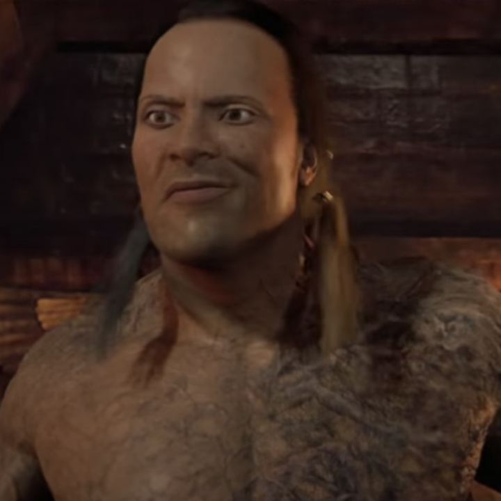 The Rock as the Scorpion King