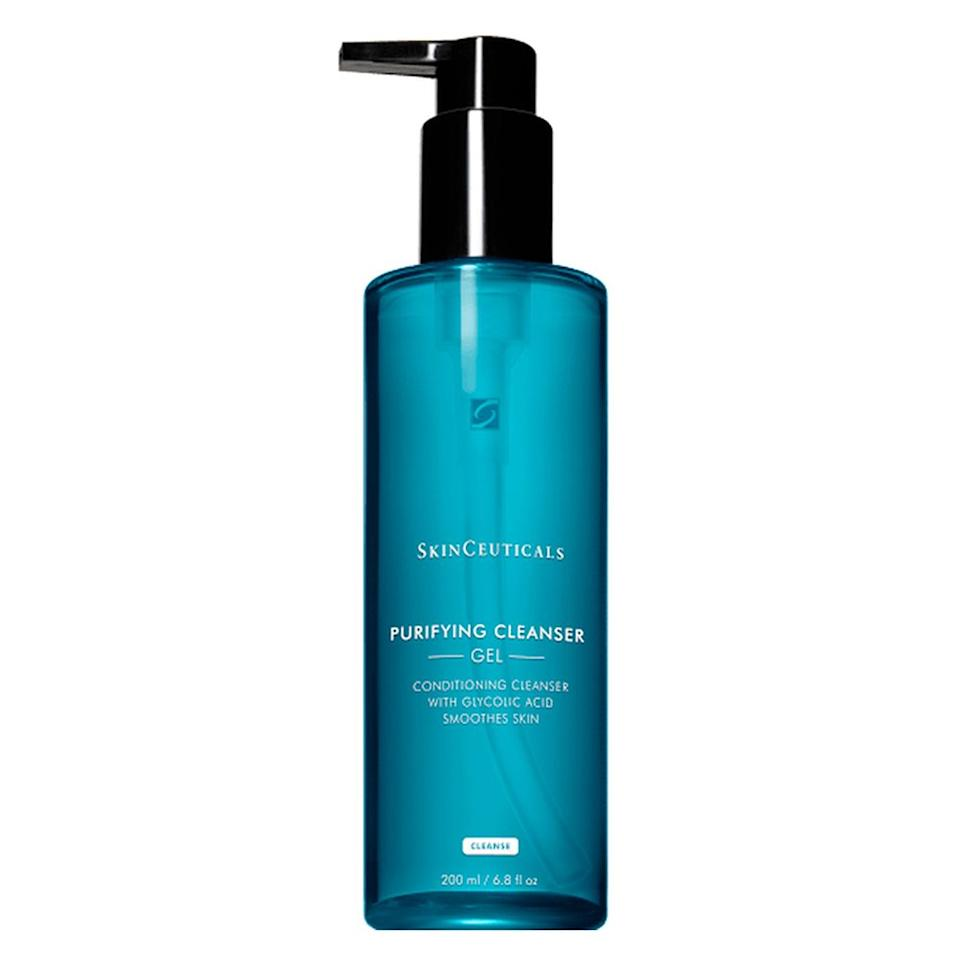 """<p><strong>Refinity Skin Science</strong></p><p>dermstore.com</p><p><strong>$35.00</strong></p><p><a href=""""https://go.redirectingat.com?id=74968X1596630&url=https%3A%2F%2Fwww.dermstore.com%2Fproduct_Purifying%2BCleanser_29855.htm&sref=http%3A%2F%2Fwww.elle.com%2Fbeauty%2Fmakeup-skin-care%2Ftips%2Fg14%2Facne-scar-treatment%2F"""" target=""""_blank"""">Shop Now</a></p><p>Dr. Y. Claire Chang, a board-certified cosmetic dermatologist at NYC's Union Square Laser Dermatology, recommends SkinCeuticals' Purifying Cleanser, which """"encourages cell turnover without drying out the skin."""" Plus, it's formulated with glycolic acid """"to wash away dead skin cells on the top layer of the skin, leaving a very clean feel and improving acne blemishing."""" </p>"""