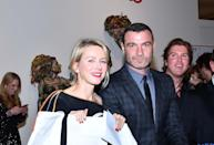 """<p>It warms our hearts to see the friendly exes hanging out together, even sans sons Alexander """"Sasha"""" and Samuel. On Wednesday, the occasion was the annual, star-studded Take Home a Nude Art Party and Auction in NYC. (Photo: AKM-GSI) </p>"""