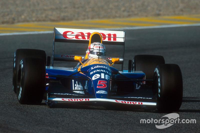 "1992: Nigel Mansell, Williams FW14B-Renault<span class=""copyright"">LAT Images</span>"