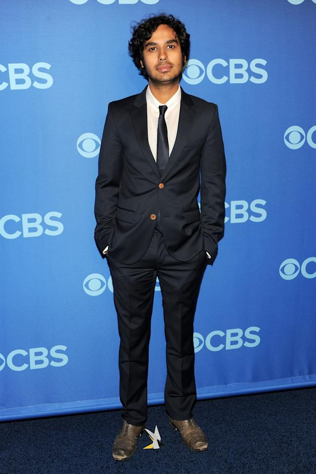 NEW YORK, NY - MAY 15:  Kunal Nayyar attends CBS 2013 Upfront Presentation at The Tent at Lincoln Center on May 15, 2013 in New York City.  (Photo by Ben Gabbe/Getty Images)