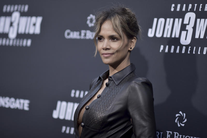 "Halle Berry attends a special screening of ""John Wick: Chapter 3 - Parabellum"" at the TCL Chinese Theatre on Wednesday, May 15, 2019, in Los Angeles. (Photo by Richard Shotwell/Invision/AP)"