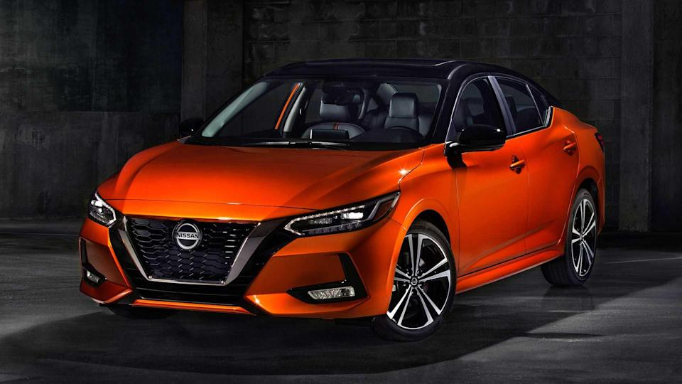 """<p><strong>Score: 6.0 / 10</strong></p> <p>The <a href=""""https://www.motor1.com/reviews/420108/2020-nissan-sentra-sedan-review/"""" rel=""""nofollow noopener"""" target=""""_blank"""" data-ylk=""""slk:Nissan Sentra"""" class=""""link rapid-noclick-resp"""">Nissan Sentra</a> is totally new and much-improved for 2020, sporting a sharp new design and loads of fresh tech inside. Unfortunately, the compact sedan isn't the nicest to drive nor is it very comfortable – so it gets just 6.0 out of 10 points on our scale, compared to some alternatives that do much better.</p> <br><a href=""""https://www.motor1.com/reviews/420108/2020-nissan-sentra-sedan-review/"""" rel=""""nofollow noopener"""" target=""""_blank"""" data-ylk=""""slk:2020 Nissan Sentra SR Review: A Much-Needed Improvement"""" class=""""link rapid-noclick-resp"""">2020 Nissan Sentra SR Review: A Much-Needed Improvement</a><br><a href=""""https://www.motor1.com/reviews/388021/2020-nissan-sentra-first-drive/"""" rel=""""nofollow noopener"""" target=""""_blank"""" data-ylk=""""slk:2020 Nissan Sentra First Drive: New Recipe, Same Flavor"""" class=""""link rapid-noclick-resp"""">2020 Nissan Sentra First Drive: New Recipe, Same Flavor</a><br>"""