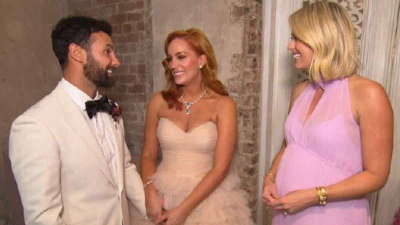 MAFS' Jules and Cam tied the knot in Sydney on Sunday. Photo: Channel Nine
