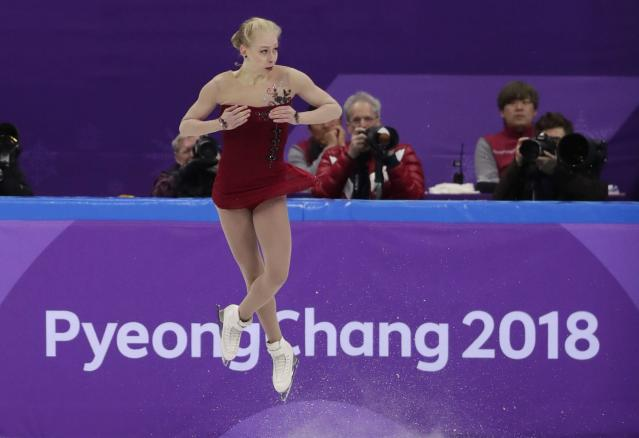 "Bradie Tennell said she didn't think she ""could have asked for a better first performance at the Olympics."" (AP)"