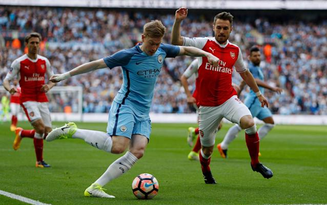 <span>Whether Aaron Ramsey can play regularly in a midfield two remains to be seen</span> <span>Credit: Reuters </span>