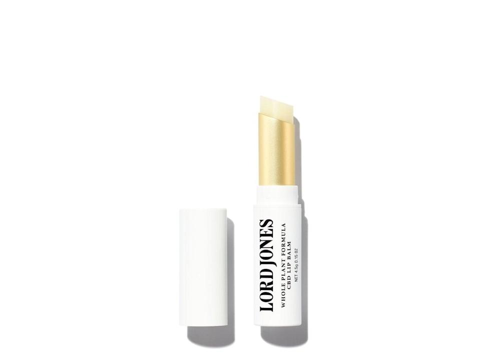 <p>As a self-proclaimed lip balm expert, there is nothing more annoying than when a product doesn't do it's job. The <span>Lord Jones Whole Plant Formula CBD Lip Balm</span> ($19) is actually moisturizing without being overly goopy; in other words, a near perfect product.</p>