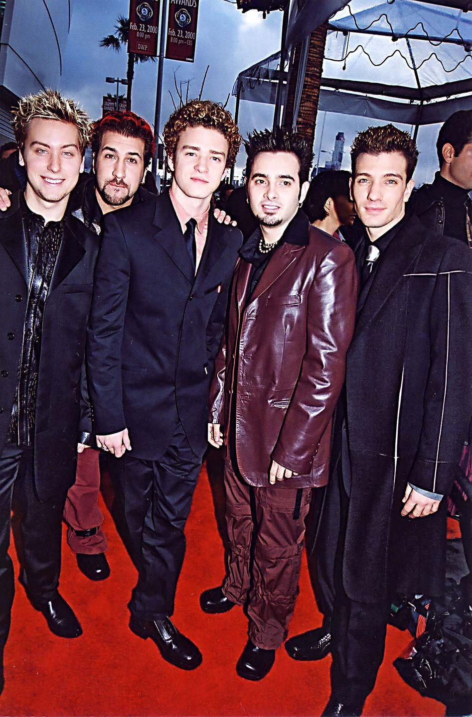<p>The boys were looking <em>gooood </em>at the Grammys in 2000. So much black, so much leather, and So. Much. Hair. Gel. </p>