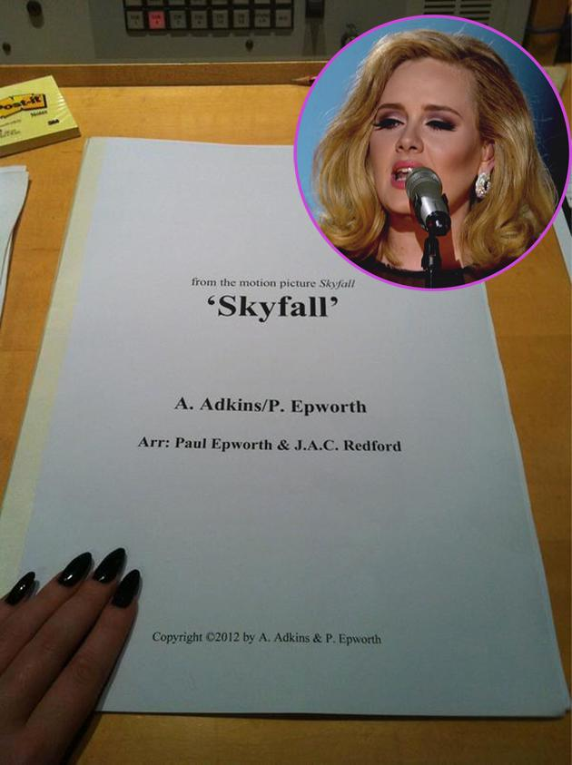 Adele tweets confirmation of the Skyfall theme, still no word on