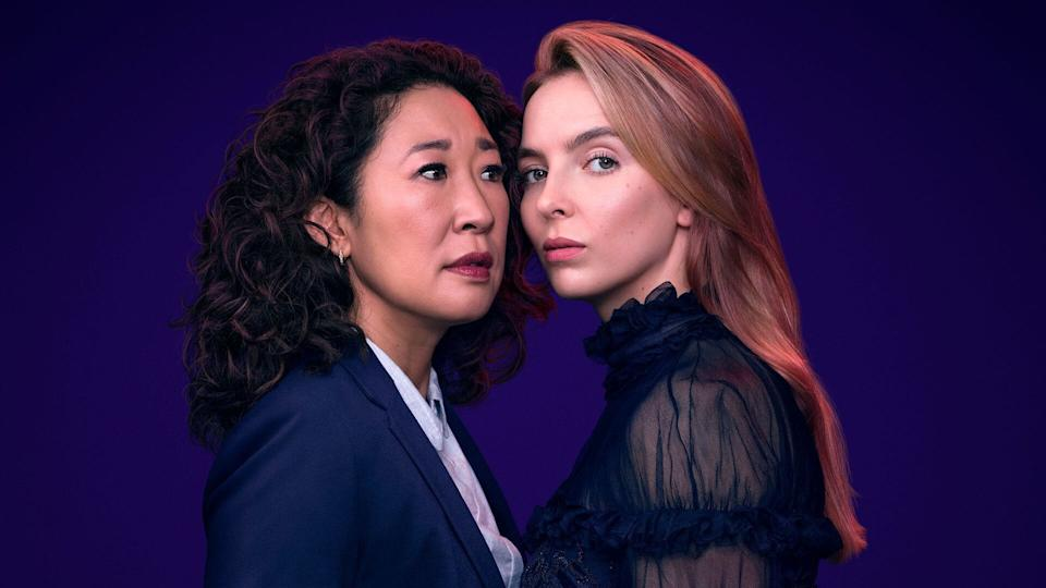 Sandra Oh and Jodie Comer as Eve and Villanelle in <i>Killing Eve</i>. (BBC/Sid Gentle/Steve Schofield)