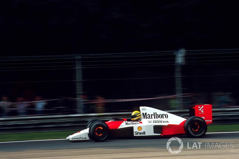"Ayrton Senna - McLaren MP4 / 6-Honda - GP de Estados Unidos de 1991<span class=""copyright"">Sutton Motorsport Images</span>"