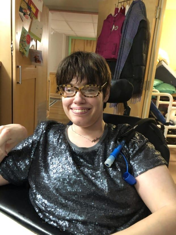 Vicky Levack, who has cerebral palsy, says she would prefer to be supported living in the community rather than a nursing home. (Vicky Levack - image credit)