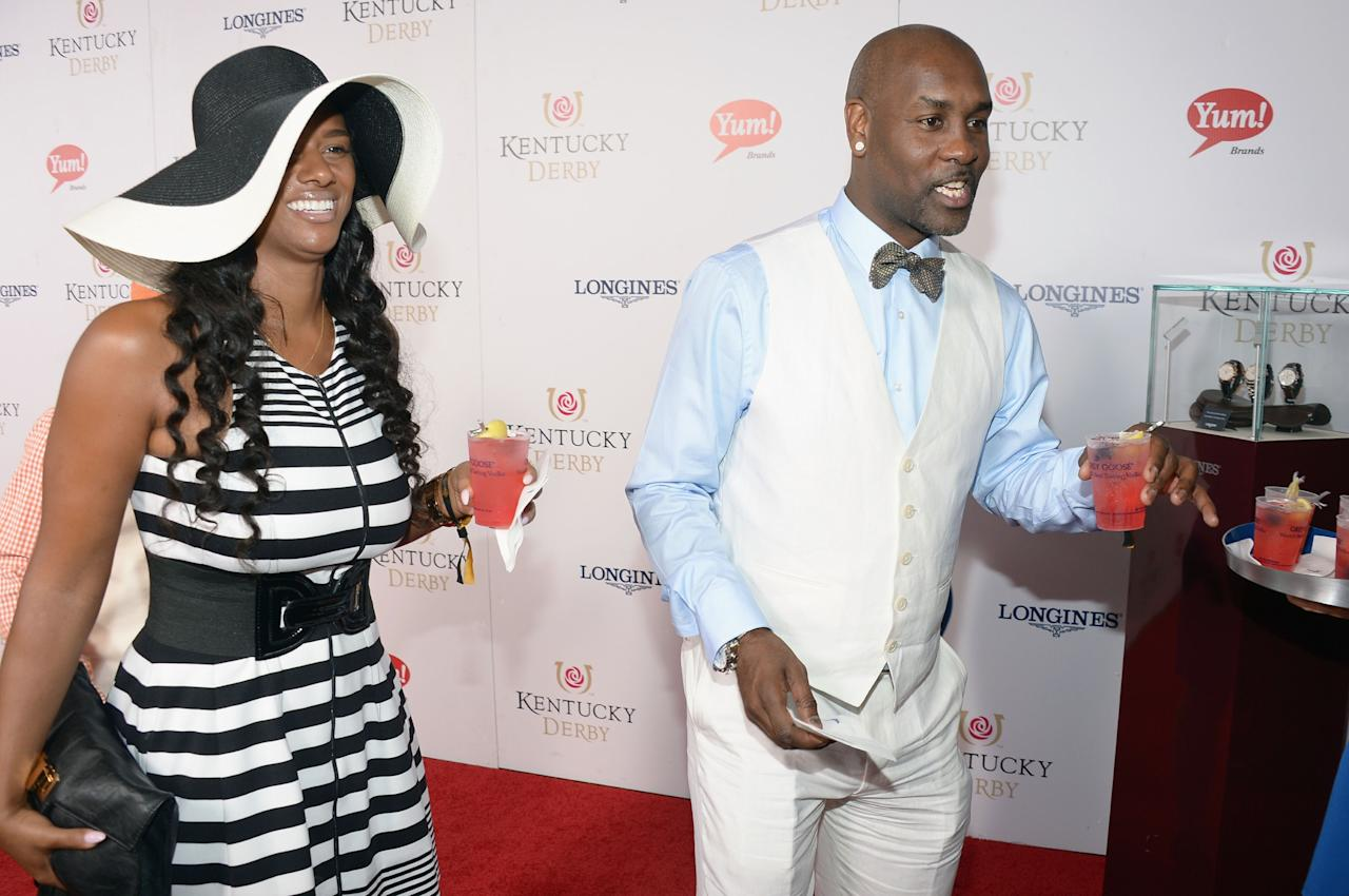 LOUISVILLE, KY - MAY 04: Gary Payton (R) at the GREY GOOSE Red Carpet Lounge at the Kentucky Derby at Churchill Downs on May 4, 2013 in Louisville, Kentucky.  (Photo by Theo Wargo/Getty Images for GREY GOOSE)