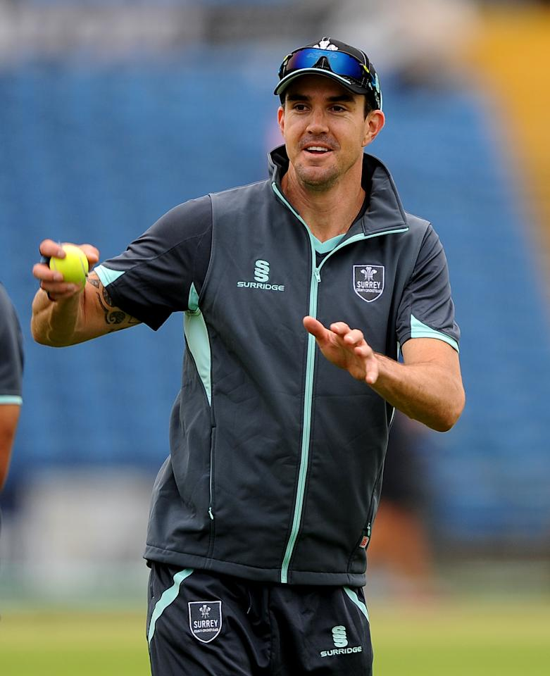 Surrey's Kevin Pietersen during day one of the LV County Championship match at Headingley Cricket Ground, Leeds.