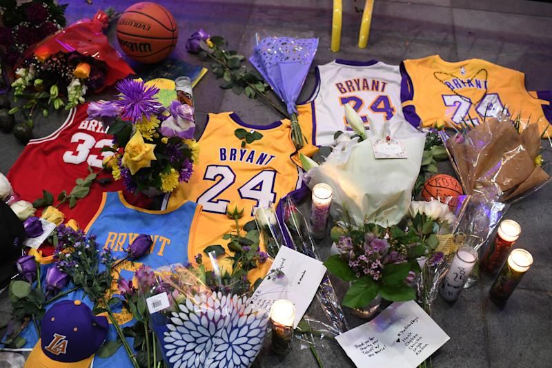 The Lakers were hit hard by Kobe Bryant's death, but they've reportedly started the healing process together as an organization. (Photo by ROBYN BECK/AFP via Getty Images)