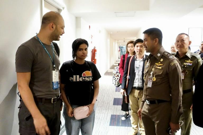 The case of Saudi teen Rahaf Mohammed al-Qunun (C) drew global attention to Thailand, which does not recognise asylum seekers