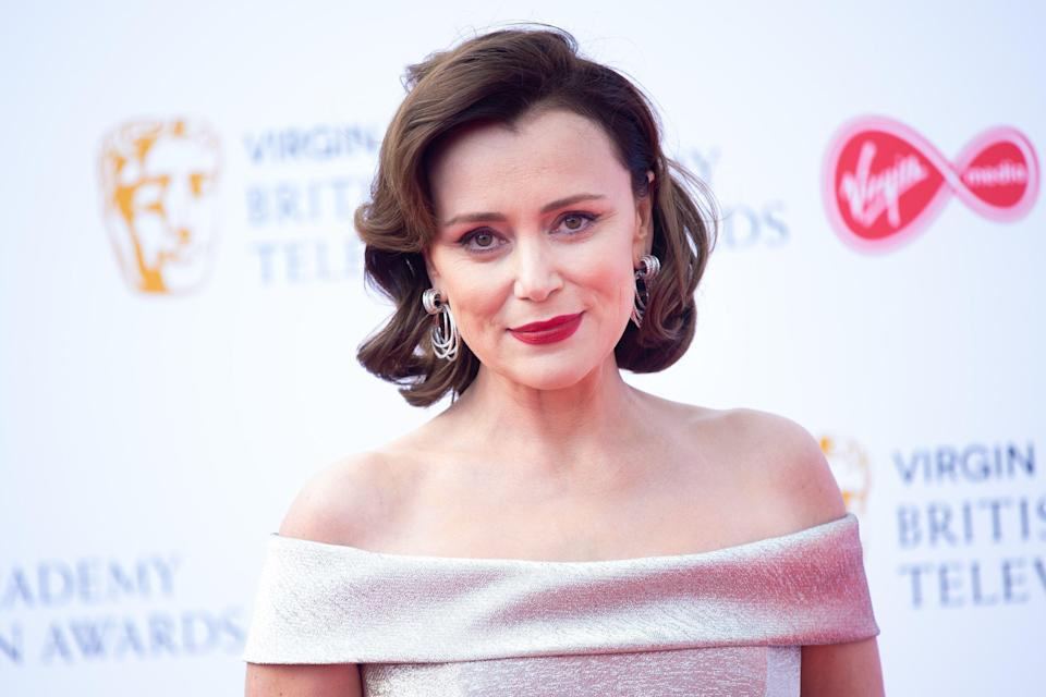 Keeley Hawes attending the Virgin Media BAFTA TV awards, held at the Royal Festival Hall in London. PRESS ASSOCIATION Photo. Picture date: Sunday May 12, 2019. See PA story SHOWBIZ Bafta. Photo credit should read: Matt Crossick/PA Wire (Photo by Matt Crossick/PA Images via Getty Images)