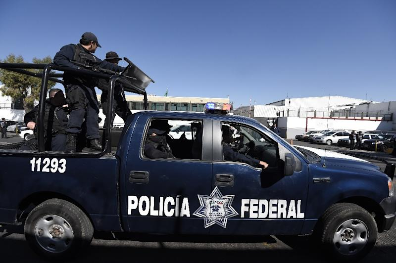 Mexican Federal Police are pictured in Mexico City on February 27, 2015 (AFP Photo/Alfredo Estrella)