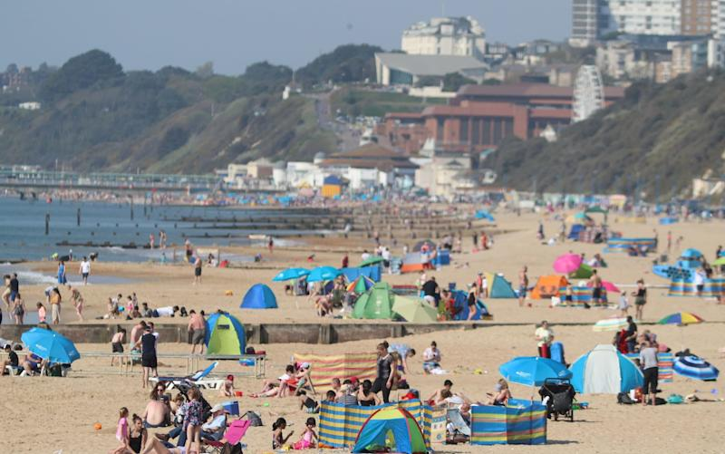 Britons have flocked to beaches this weekend for the Easter break - PA