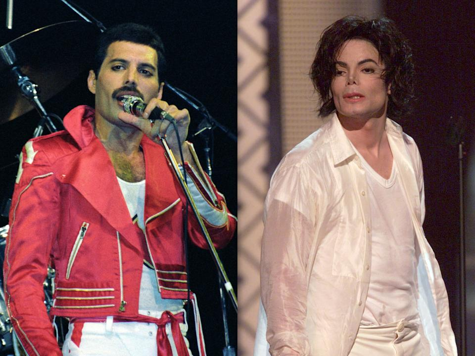 Freddie Mercury once teased Michael Jackson for sleeping on a mattress with no bed frame, says the Queen frontman's former personal assistant (Larry Marano/Dave Hogan/Getty)