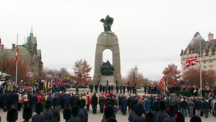 Highlights from the Remembrance Day ceremony at the National War Memorial in Ottawa.