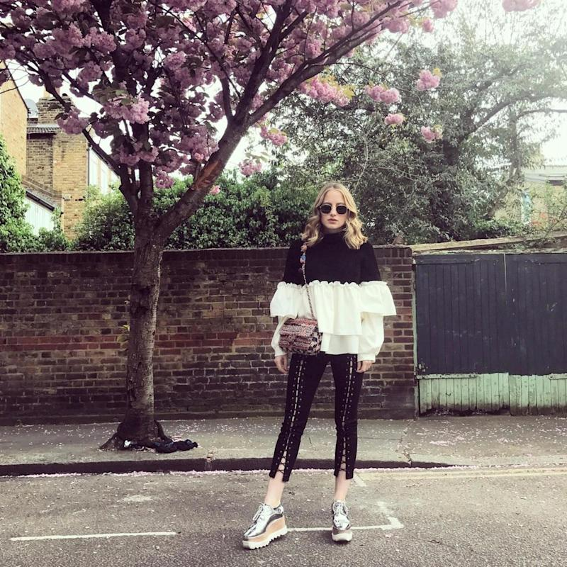 Super cool: Our columnist is in love with these Topshop jeans (Rosie Fortescue/ Instagram)