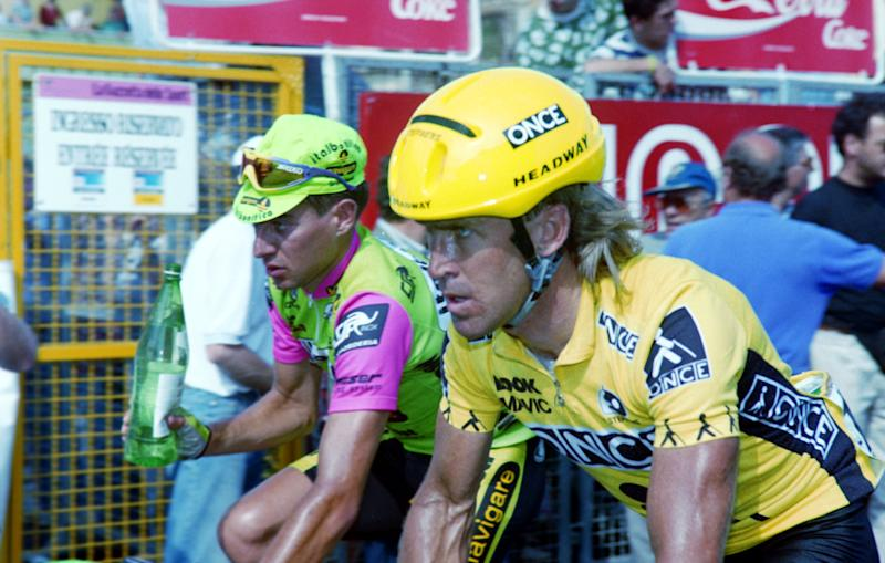 Neil Stephens in ONCE yellow at the 1992 Giro d'Italia.