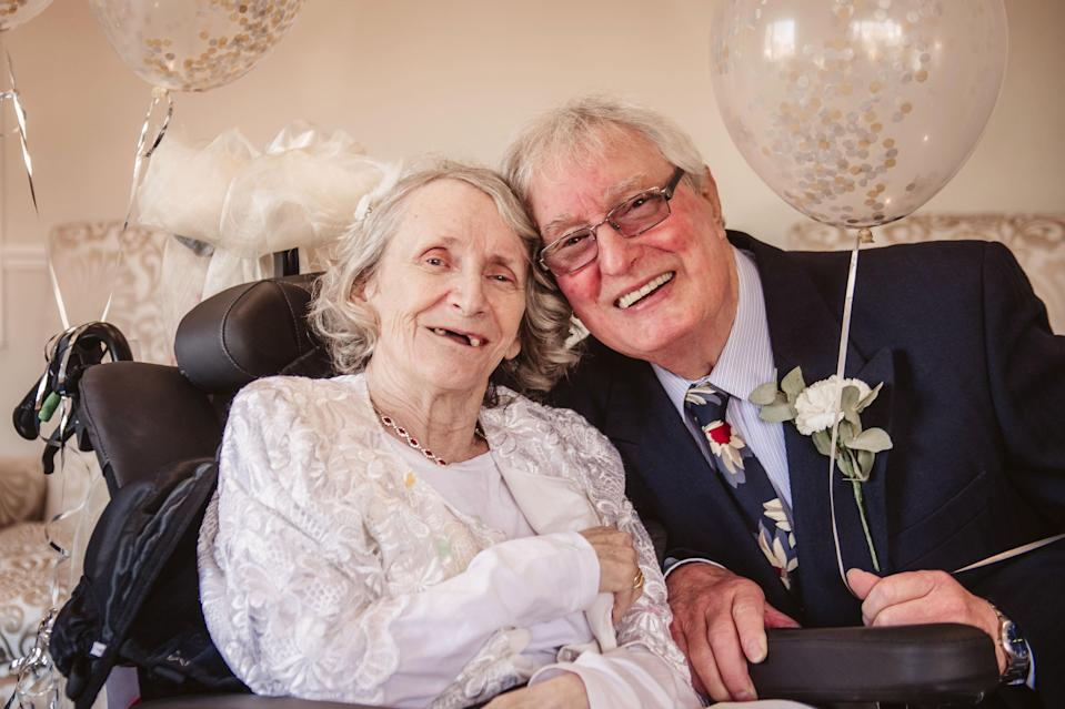 The couple had their wedding reception in Young's care home. (Photo: Caters)