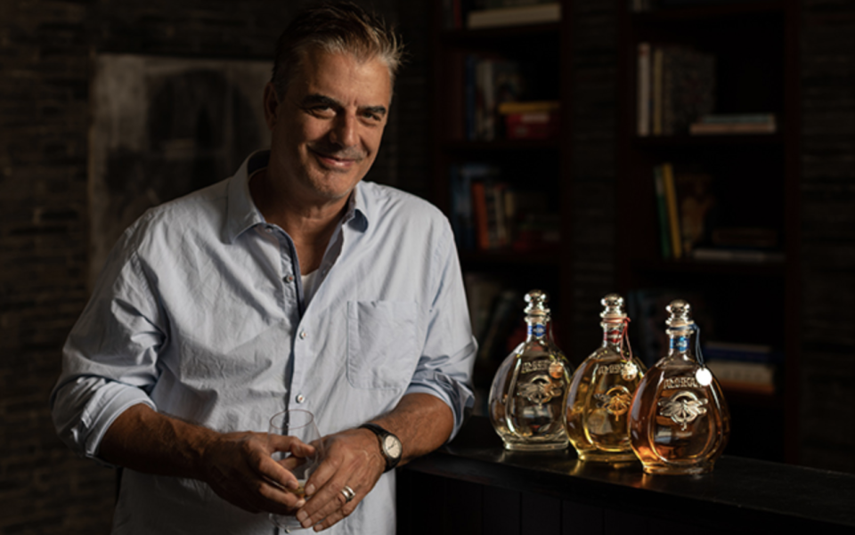 Actor Chris Noth is a majority shareholder and brand ambassador for Ambhar Tequila. The boutique brand produces about 300,000 bottles of tequila a year.