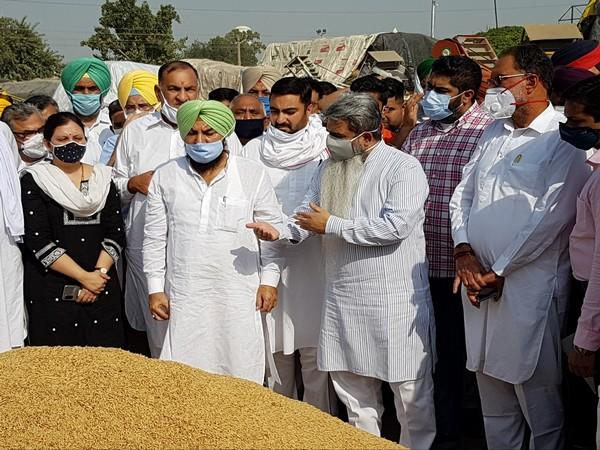The minister said that due to the early arrival of paddy crop, the state government started the procurement of paddy from today. (Photo: ANI)