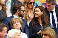 <p>The Russian model has been dating A-list actor Bradley since 2015 with the pair having all eyes on them. Their relationship appeared to be on the rocks at Wimbledon earlier this year but it seems as if the couple weathered it out. <i>[Photo: Getty]</i> </p>