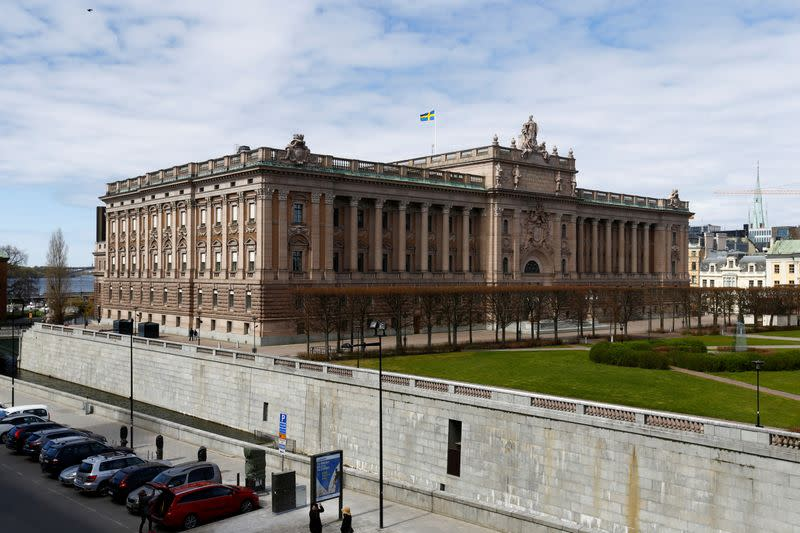 FILE PHOTO: A general view of the Riksdag in Stockholm