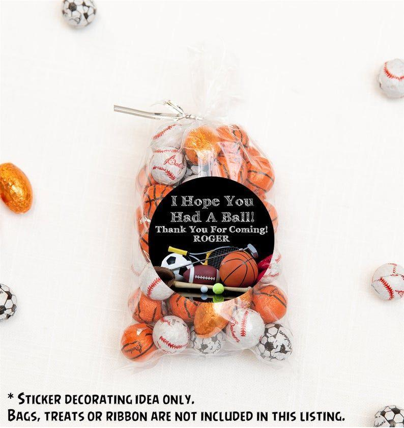 """<p><strong>BaasParties</strong></p><p>etsy.com</p><p><a href=""""https://go.redirectingat.com?id=74968X1596630&url=https%3A%2F%2Fwww.etsy.com%2Flisting%2F1010042918%2Fsports-birthday-party-sticker-labels&sref=https%3A%2F%2Fwww.womansday.com%2Flife%2Fg32946619%2Fboy-birthday-party-ideas%2F"""" rel=""""nofollow noopener"""" target=""""_blank"""" data-ylk=""""slk:Shop Now"""" class=""""link rapid-noclick-resp"""">Shop Now</a></p><p>If you have a little boy who can't seem to sit still, a party all about physical challenges could be a hit. Create an obstacle course of things to climb, hang from, jump over and run through. Or do a rotation of sports from football and soccer, to baseball and volleyball. Ask the kids to come dressed in jerseys to represent their favorite sport or player!</p>"""