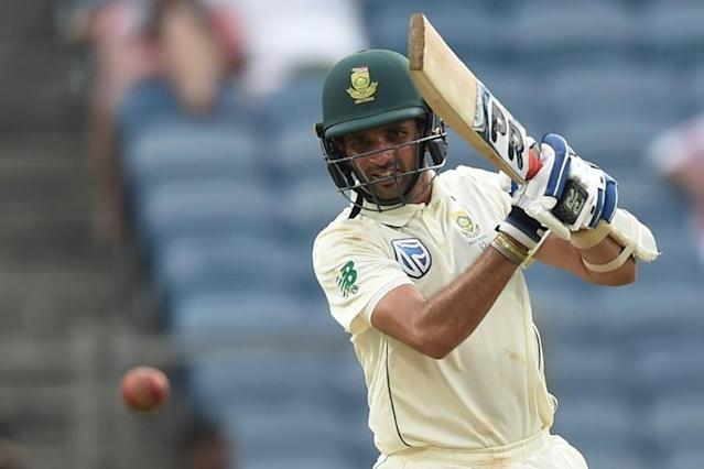 South African batsman Keshav Maharaj hit a career-best 72 with an injured shoulder (AFP Photo/PUNIT PARANJPE)