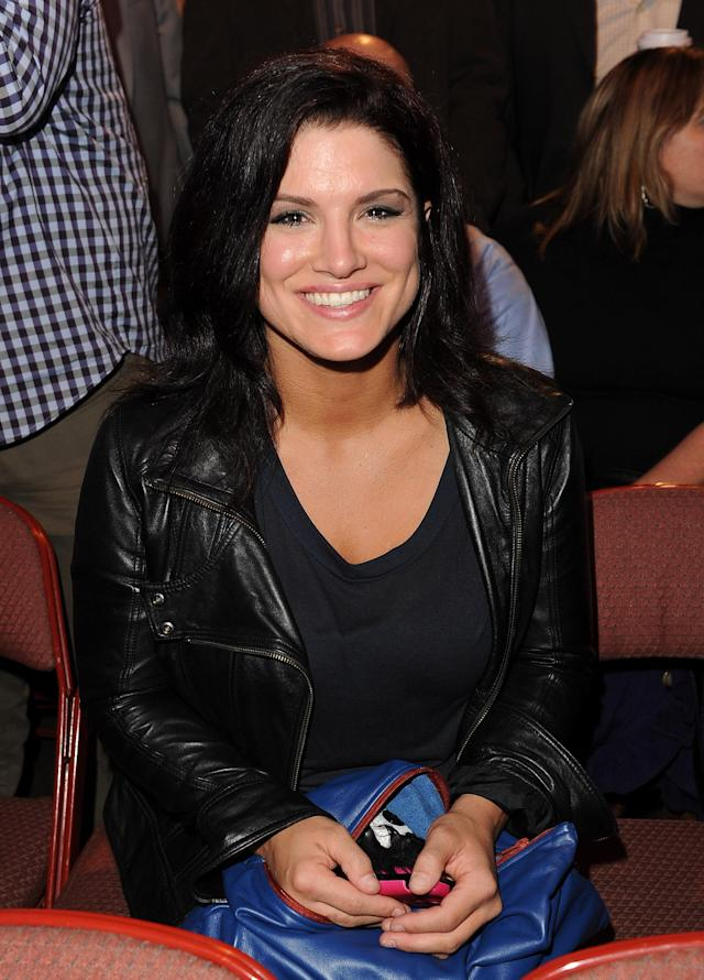 ANAHEIM, CA - NOVEMBER 12: Mixed martial arts fighter Gina Carano attends UFC on Fox: Live Heavyweight Championship at the Honda Center on November 12, 2011 in Anaheim, California. (Photo by Jason Merritt/Getty Images)