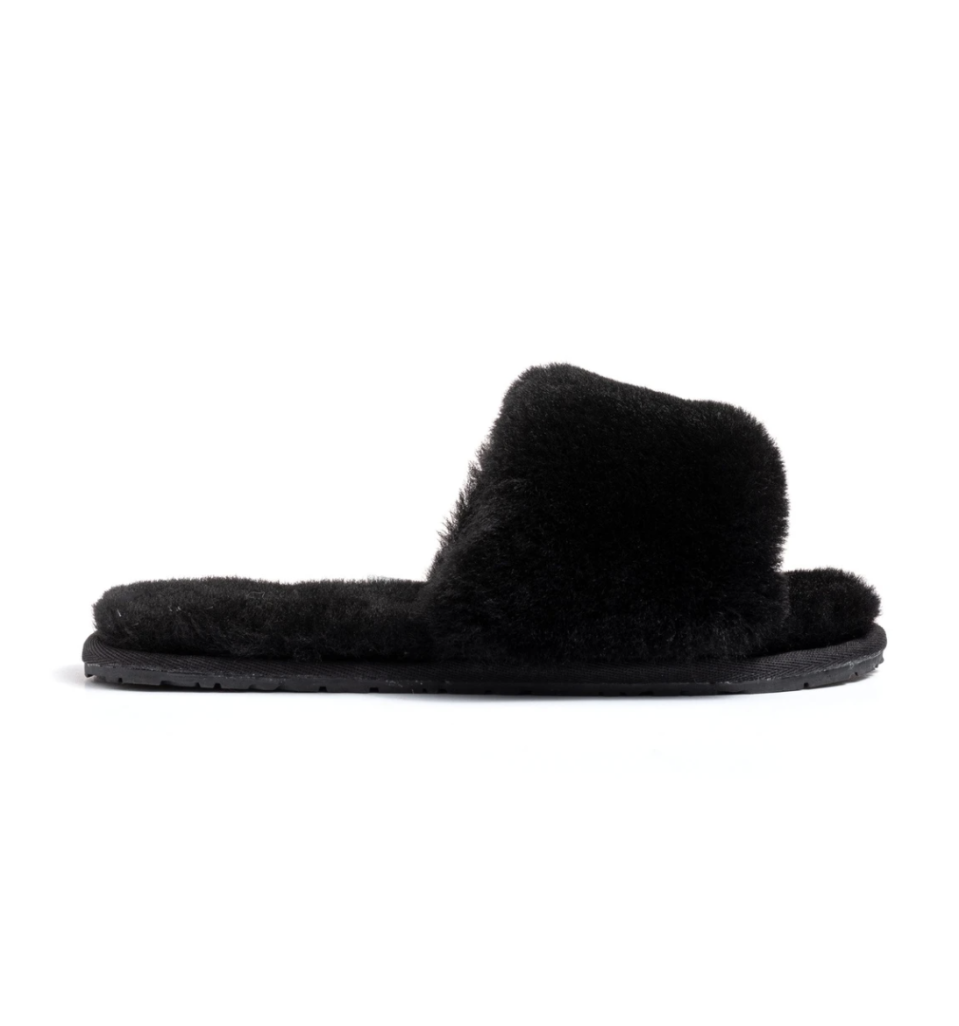"<p><strong>Confetti</strong></p><p>confetti-boutique.com</p><p><strong>$55.00</strong></p><p><a href=""https://www.confetti-boutique.com/collections/fur-slides-slippers/products/black-lamb-fur-slippers"" rel=""nofollow noopener"" target=""_blank"" data-ylk=""slk:Shop Now"" class=""link rapid-noclick-resp"">Shop Now</a></p><p>One can never have too many pairs of slippers, and Duckie Confetti's celebrity-approved shearling pair are worth adding to your mom's collection.</p>"