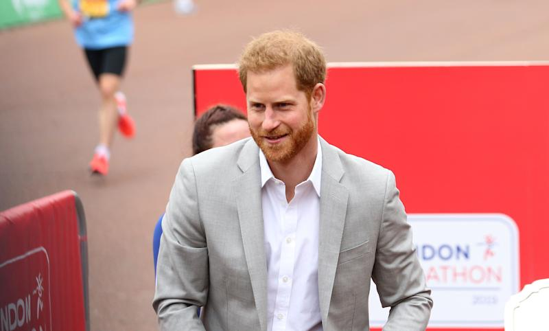 The Duke of Sussex during the 2019 Virgin Money London Marathon [Photo: PA]