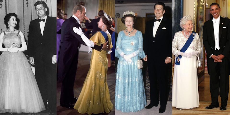 <p>Over the course of her nearly 70-year-reign, Queen Elizabeth has seen more than a few regime changes in American politics, and this weekend, she'll have tea with President Biden during his first overseas visit in office. In total, she's now spent time with 13 out of the last 14 sitting U.S. presidents. (Somehow, Lyndon Johnson missed the cut.) See photos of her meetings with presidents from Truman to Biden right here. </p>