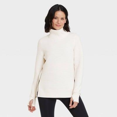 <p>Pre- and post-workout, reach for this comfy <span>All in Motion Quilted Pullover With Funnel Neck Collar</span> ($30).</p>