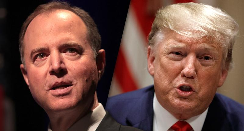 Schiff and Trump. (Photos: Scott Olson/Getty Images, Carolyn Kaster/AP)