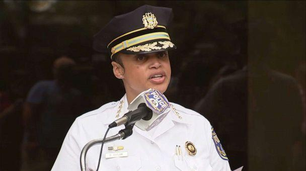 PHOTO: Philadelphia Police Commissioner Danielle Outlaw speaks during a press conference on June 25, 2020, about an incident during the George Floyd protests on June 1, in which police fired tear gas. (WPVI)
