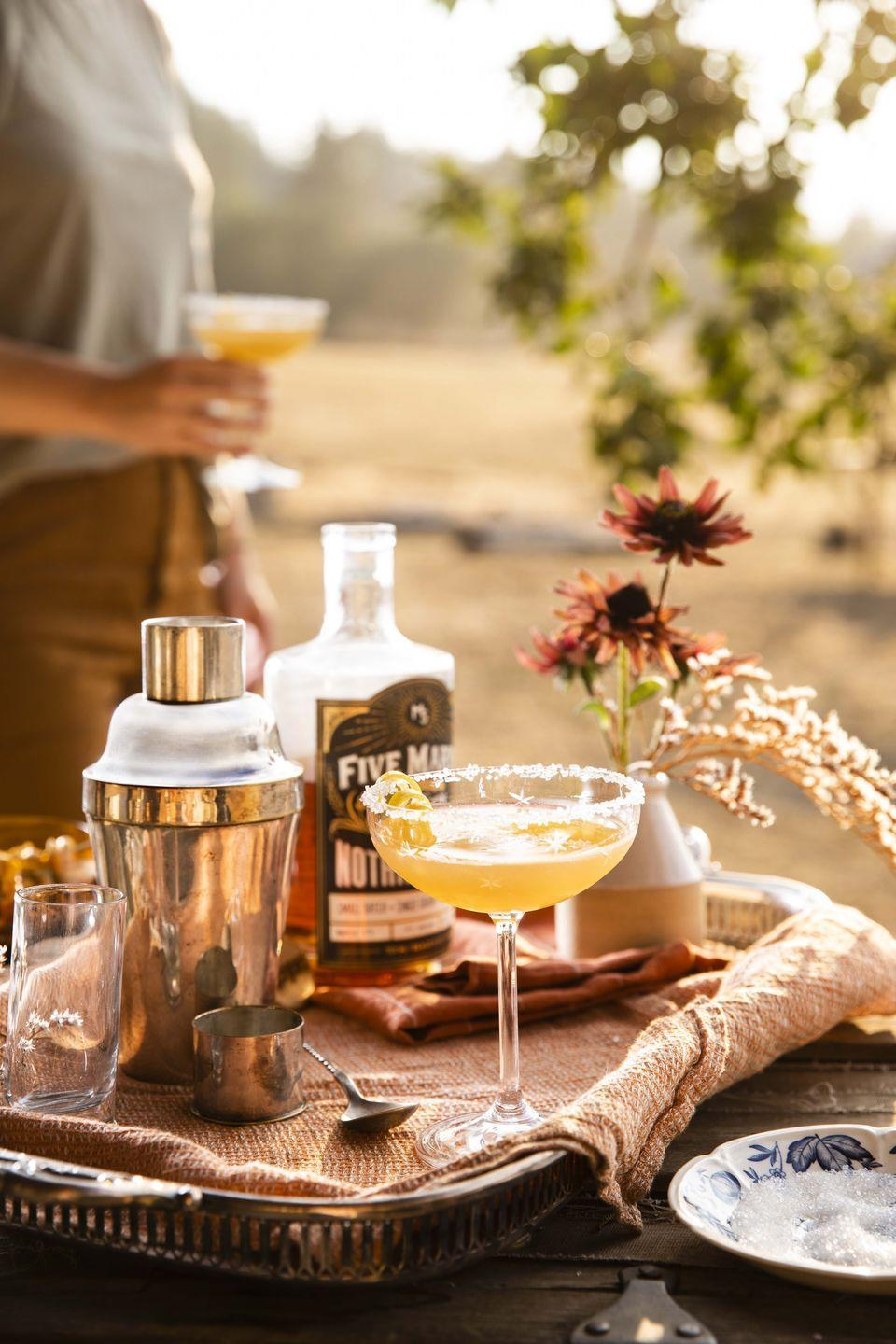 """<p>This bourbon-based take on the elegant turn-of-the-century cocktail comes from Mary Heffernen of <a href=""""https://www.fivemarysfarms.com/"""" rel=""""nofollow noopener"""" target=""""_blank"""" data-ylk=""""slk:Five Marys Farms"""" class=""""link rapid-noclick-resp"""">Five Marys Farms</a>. It's dangerously quaffable.</p><p><strong><a href=""""https://www.countryliving.com/food-drinks/a34277083/m5-sidecar/"""" rel=""""nofollow noopener"""" target=""""_blank"""" data-ylk=""""slk:Get the recipe"""" class=""""link rapid-noclick-resp"""">Get the recipe</a>.</strong></p><p><strong><a class=""""link rapid-noclick-resp"""" href=""""https://www.amazon.com/dp/B07YBJ483D?tag=syn-yahoo-20&ascsubtag=%5Bartid%7C10050.g.1078%5Bsrc%7Cyahoo-us"""" rel=""""nofollow noopener"""" target=""""_blank"""" data-ylk=""""slk:SHOP BAR TOOLS"""">SHOP BAR TOOLS</a><br></strong></p>"""