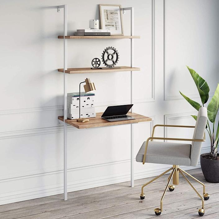 <p>This <span>Nathan James Theo 2-Shelf Industrial Wall Mount Ladder</span> ($159, originally $170) includes both a desk and storage.</p>