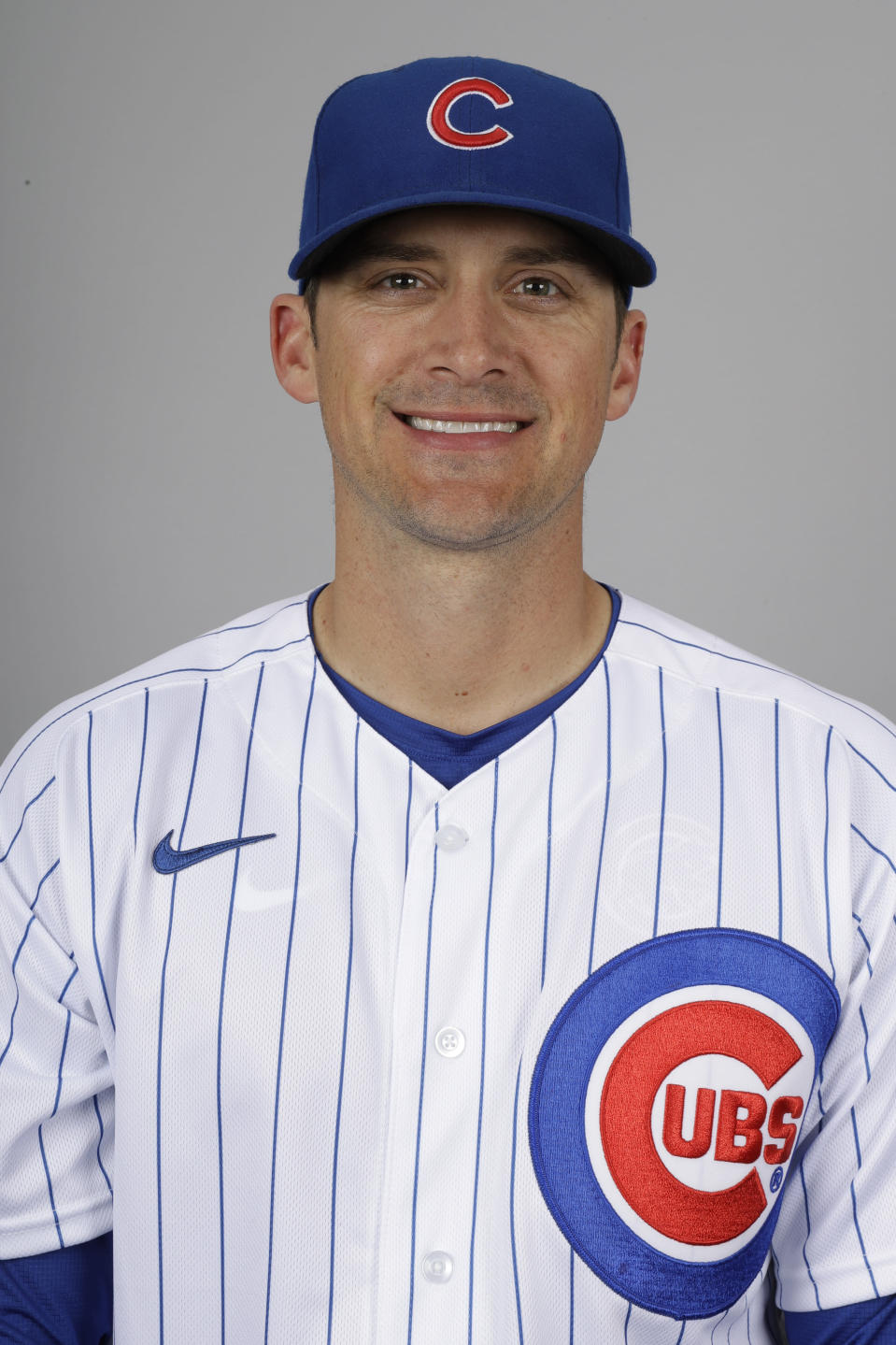 This is a 2020 photo of Tommy Hottovy of the Chicago Cubs baseball team. This image reflects the 2020 active roster as of Tuesday, Feb. 18, 2020, when this image was taken in Mesa, Ariz. (AP Photo/Gregory Bull)