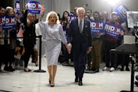 <p>Dr. Biden seems to favor pearls for most events - she wears them in the form of long-stranded necklaces, elegant earrings, and bracelets. </p>
