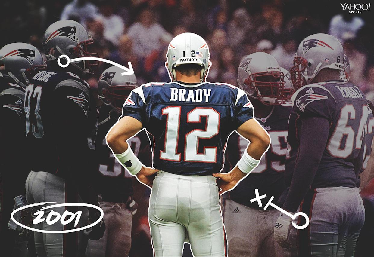 Tom Brady's first game as a starter came on Sept. 30, 2001, against the Indianapolis Colts. (Getty Images)