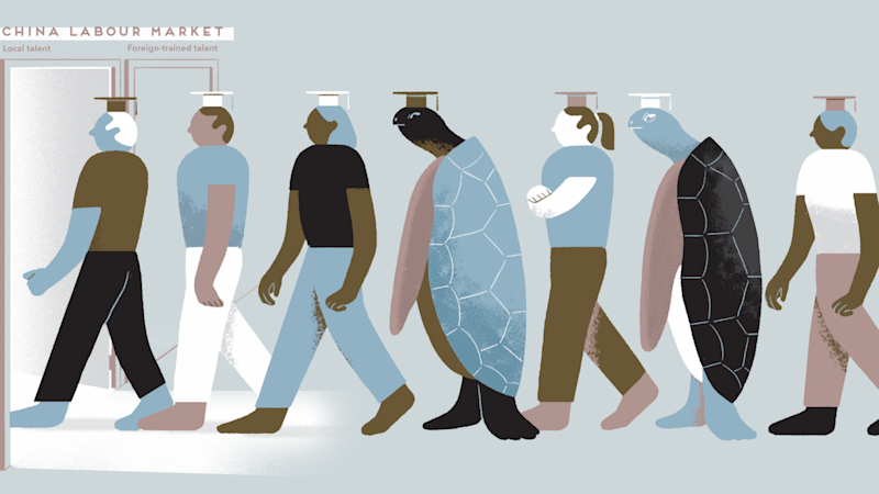 China's crowded labour market is making life tough for foreign workers and new graduate 'sea turtles'